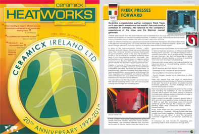 Freek in Heatworks magazine, January 2012