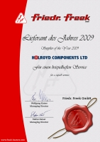 Supplier of the Year 2008