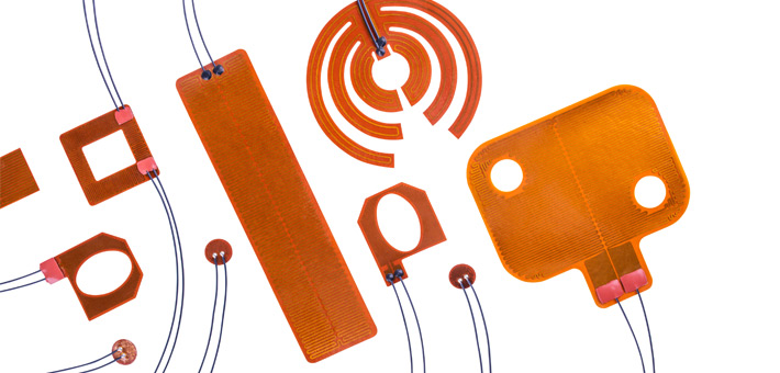 Various Polyimide (Kapton) heater shapes