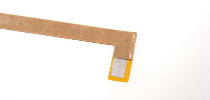 Kapton heater with adhesive, open termination area, without leads