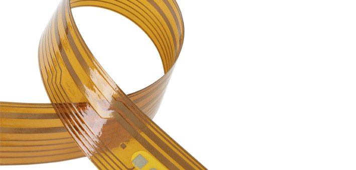 Flexibile Kapton-Polyimide strip heater used as pipe heater