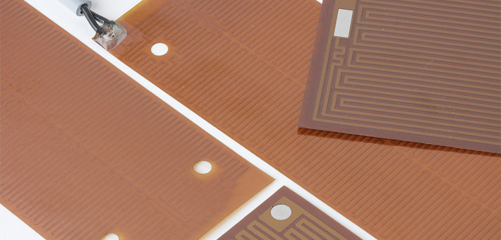 Rectangular Kapton heaters with self-adhesive foil