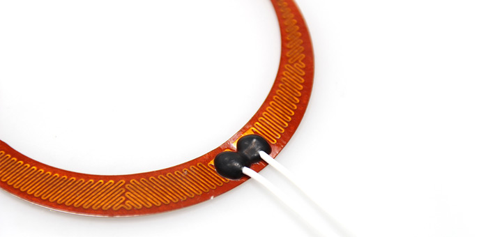 Round Polyimide strip heater with PTFE leads