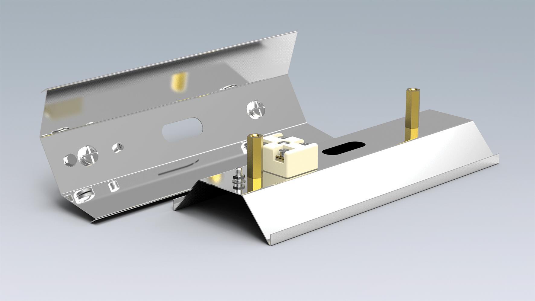 how to cut through aluminum reflector