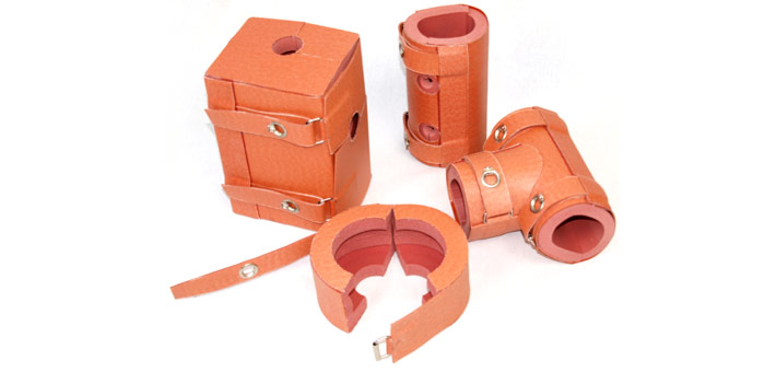 several insulations for tubes, valves and t-pieces