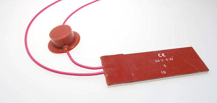 "silicone heater with silicone leads and limiter 1/2"" disk in leads (for anti-freeze application)"