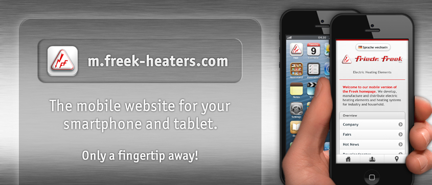 m.freek-heaters.com - The mobile website for your smartphone and tablet. Only a fingertip away!