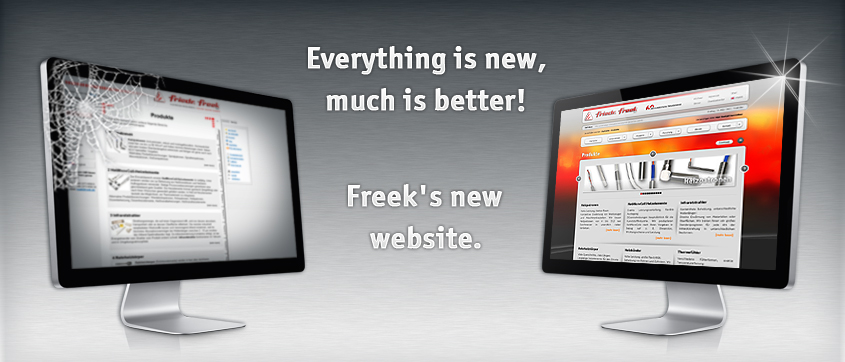 Everything is new, much is better! Freek's new website.